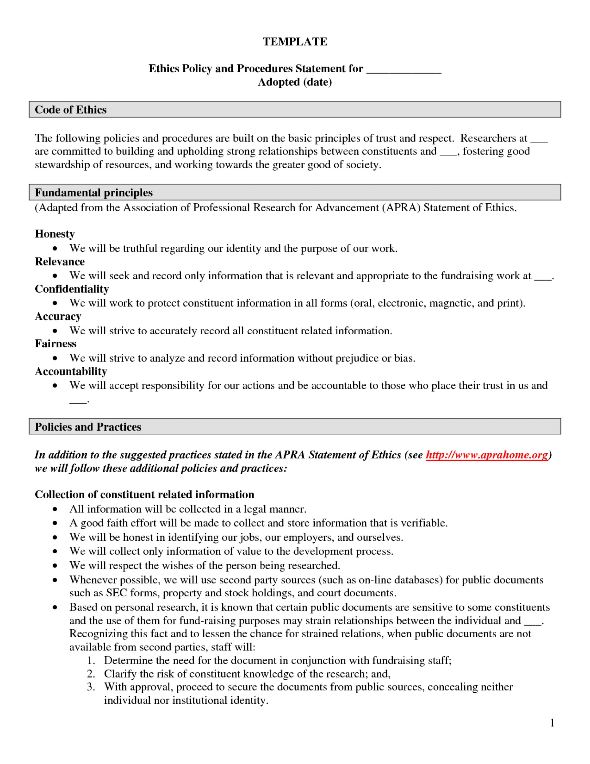 006 Essay Example Ethics Examples Policy Template Employee Code Of Conduct Company Personal L Fearsome Medical Ethical Dilemma Environmental Statement 1920