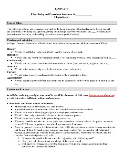 006 Essay Example Ethics Examples Policy Template Employee