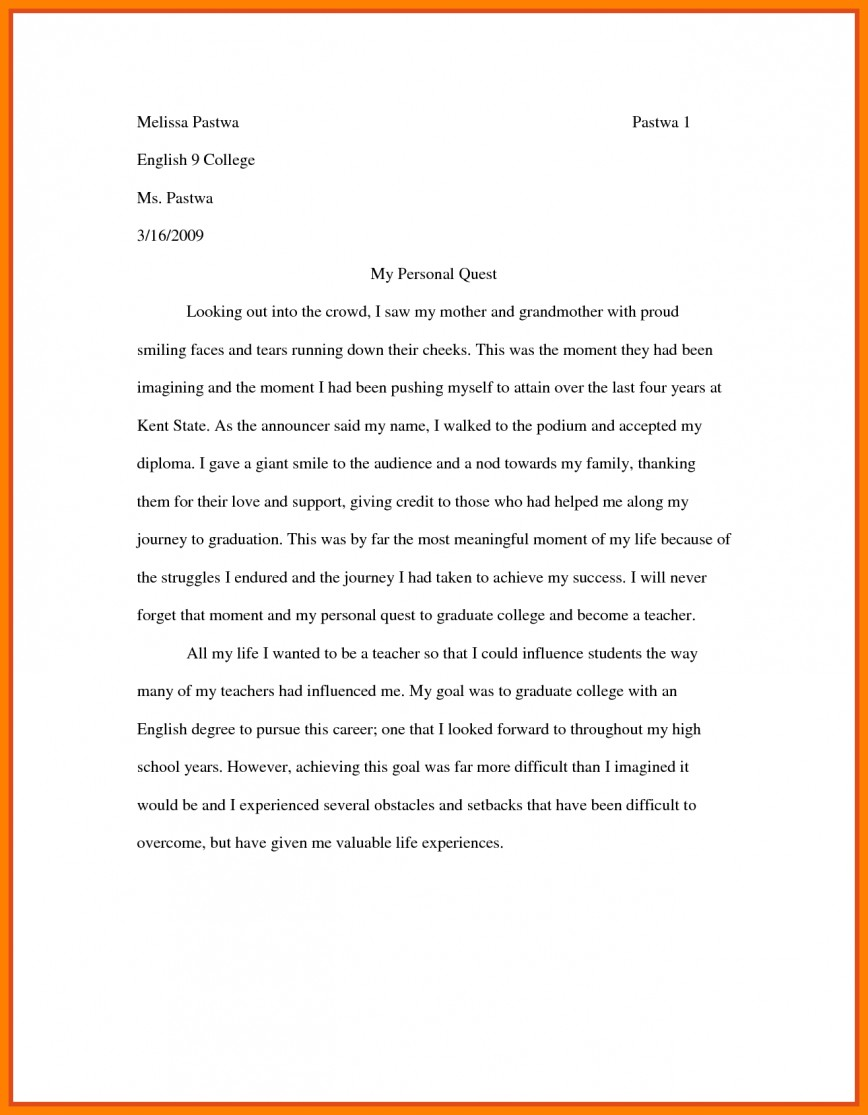 006 Essay Example Examples Of College Essays Writing Format For High School Students Sample Community Service My Most Influential Fascinating Teacher