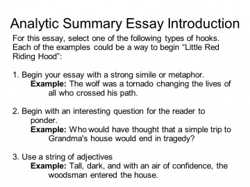 006 Essay Example Examples Of Hooks For Essays Co Sli Expository Comparison Writing Narrative Argumentative Types High Sensational Some Opinion 360
