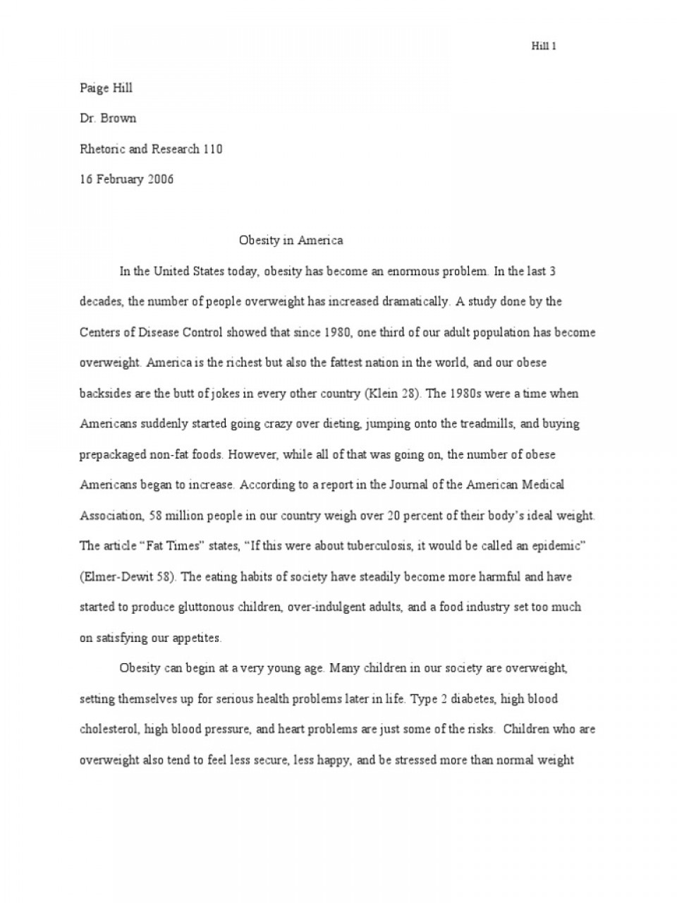 006 Essay Example Fast Stunning Food Nation Outline Titles Introduction 960