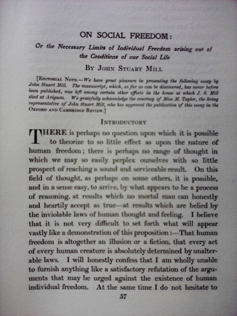 006 Essay Example Freedom Definition On Social In Oxford And Cambridge Review 1907 Rare Meaning Of Speech 480
