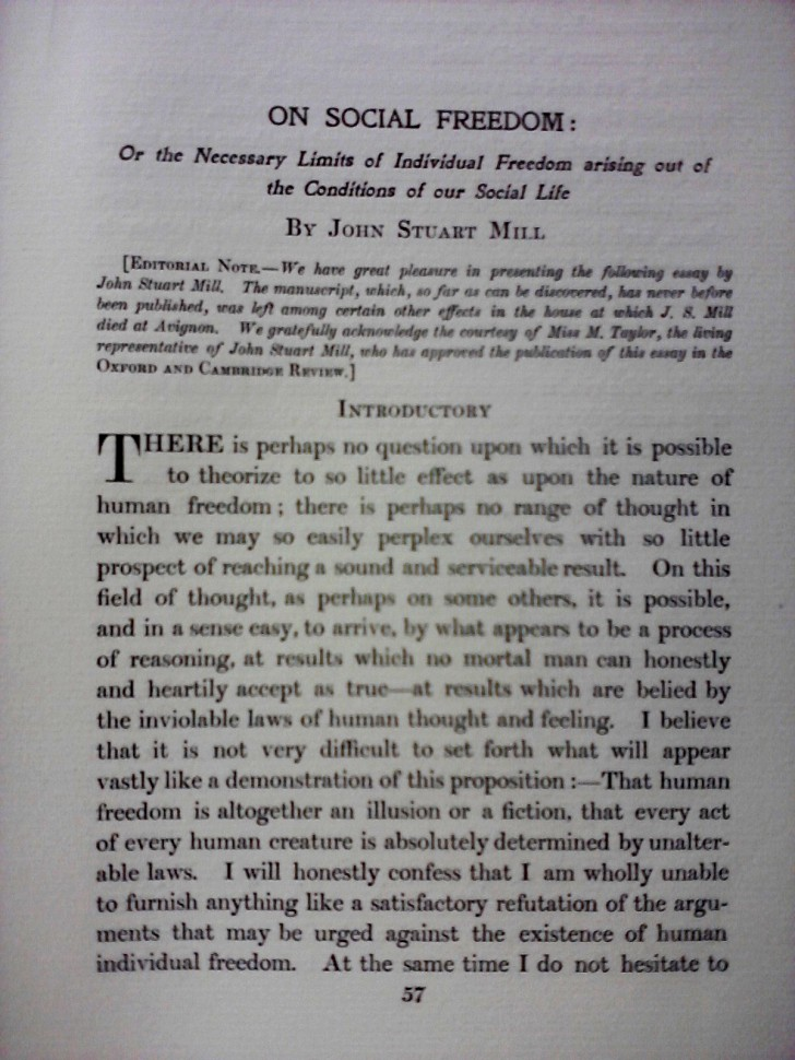 006 Essay Example Freedom Definition On Social In Oxford And Cambridge Review 1907 Rare Meaning Of Speech 728