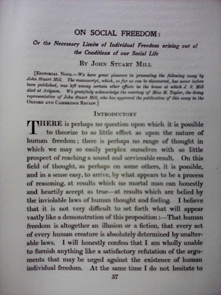 006 Essay Example Freedom Definition On Social In Oxford And Cambridge Review 1907 Rare Meaning Of Speech 868