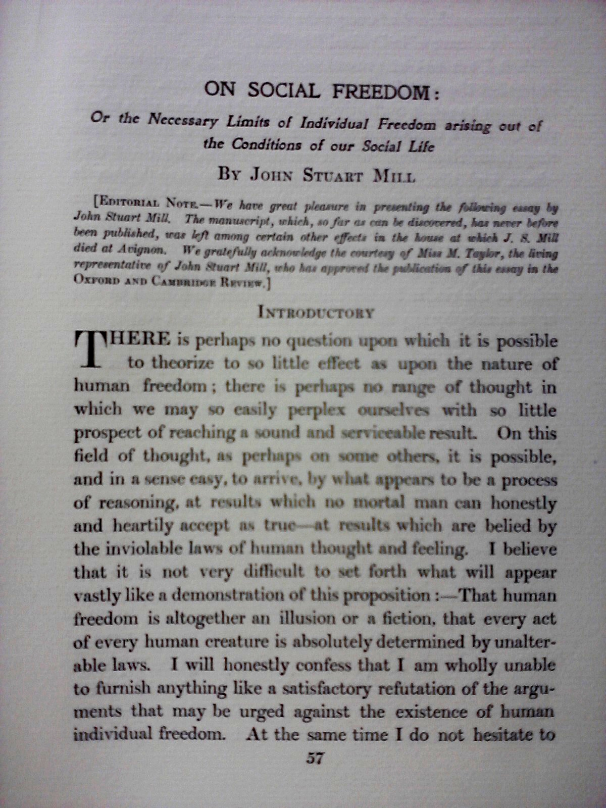 006 Essay Example Freedom Definition On Social In Oxford And Cambridge Review 1907 Rare Meaning Of Speech Full