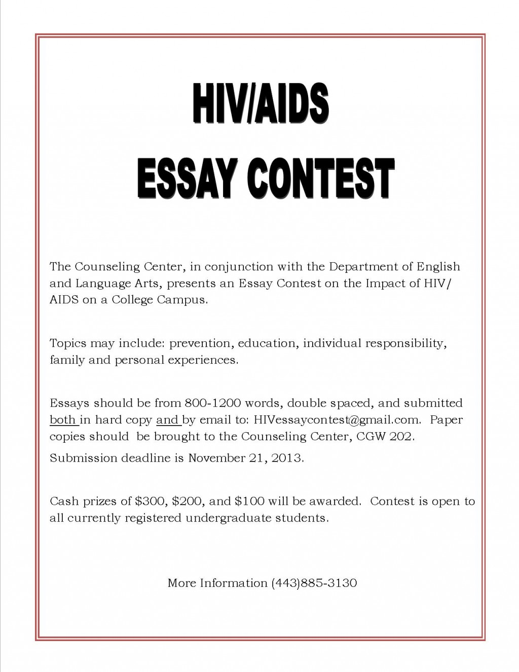 006 Essay Example Hiv Aids Essays Flyer Tamil Awareness Epidemic In Africa Hivaids On Pediatric About Research Phenomenal Hindi Pdf Topics Large