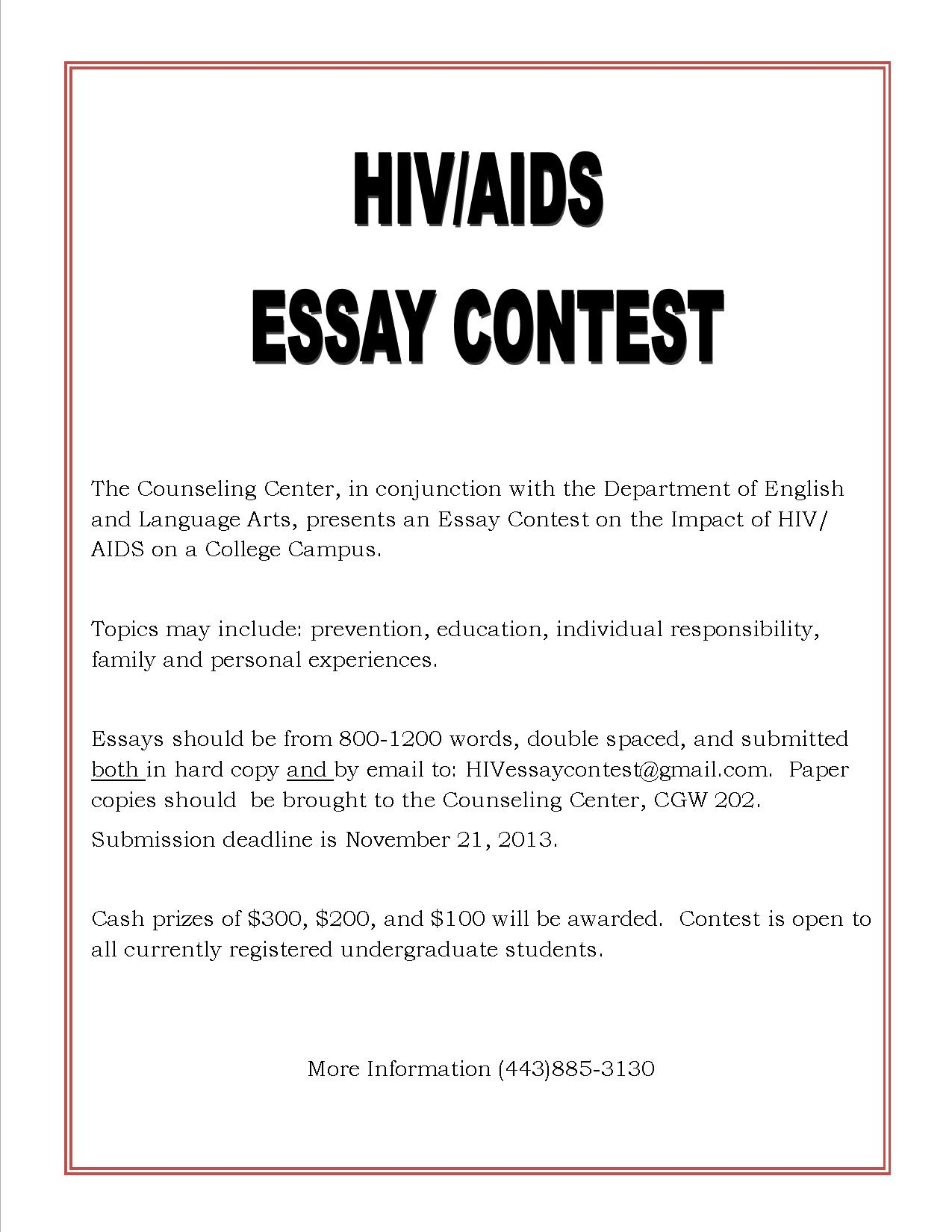 006 Essay Example Hiv Aids Essays Flyer Tamil Awareness Epidemic In Africa Hivaids On Pediatric About Research Phenomenal Hindi Pdf Topics Full