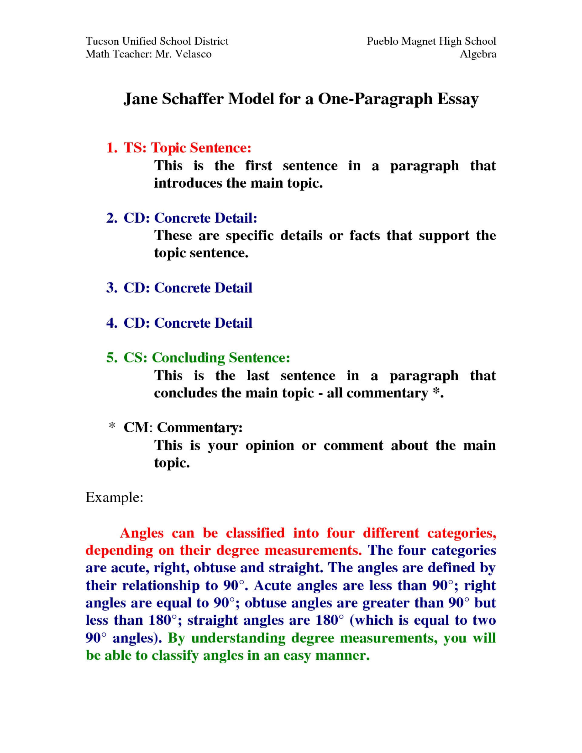 006 Essay Example How Many Sentences Are In Paragraph For Wondrous A An College 5 Each Of 1920