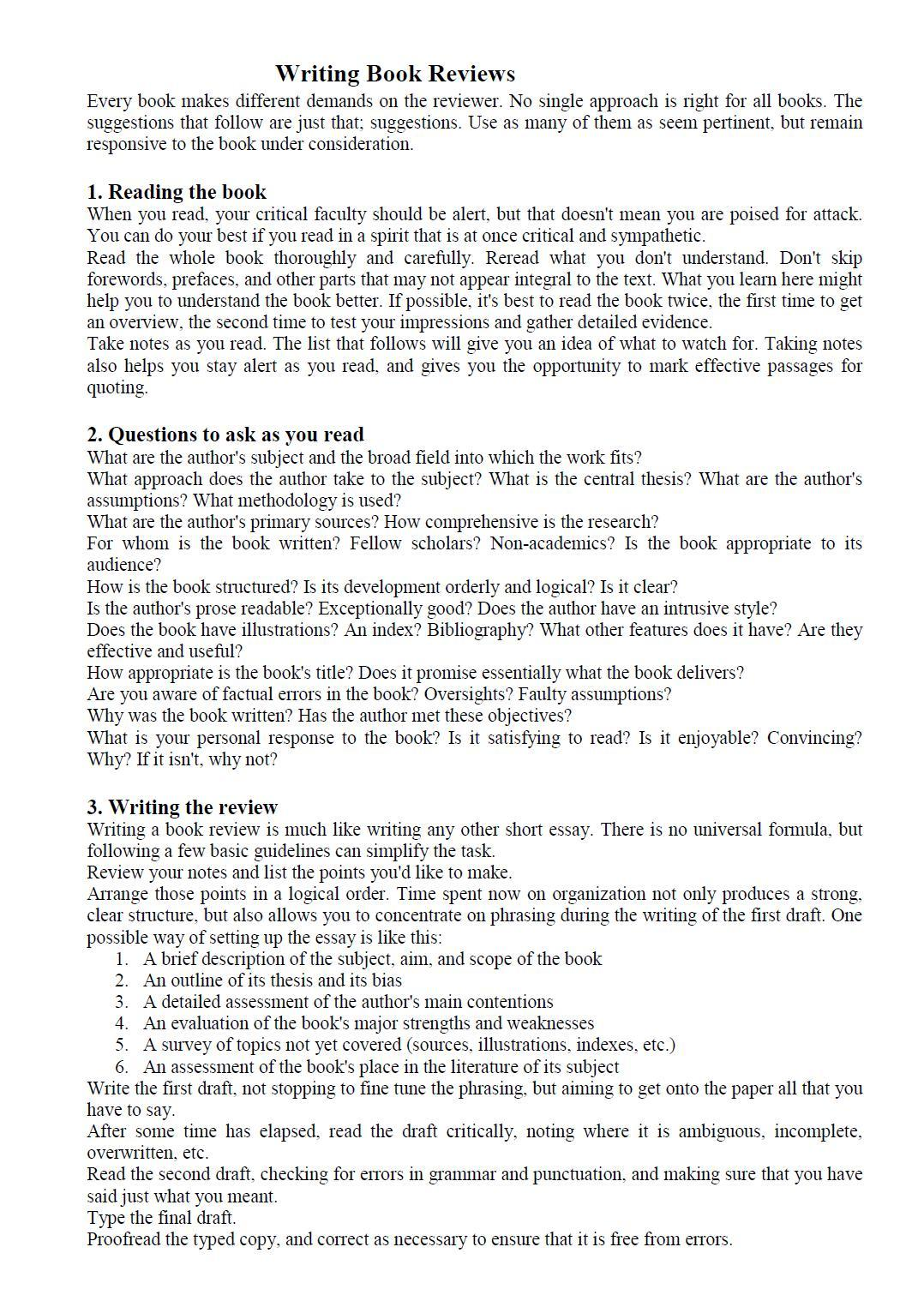 006 Essay Example How To Write Book Review Automatic Incredible Writer Free Full