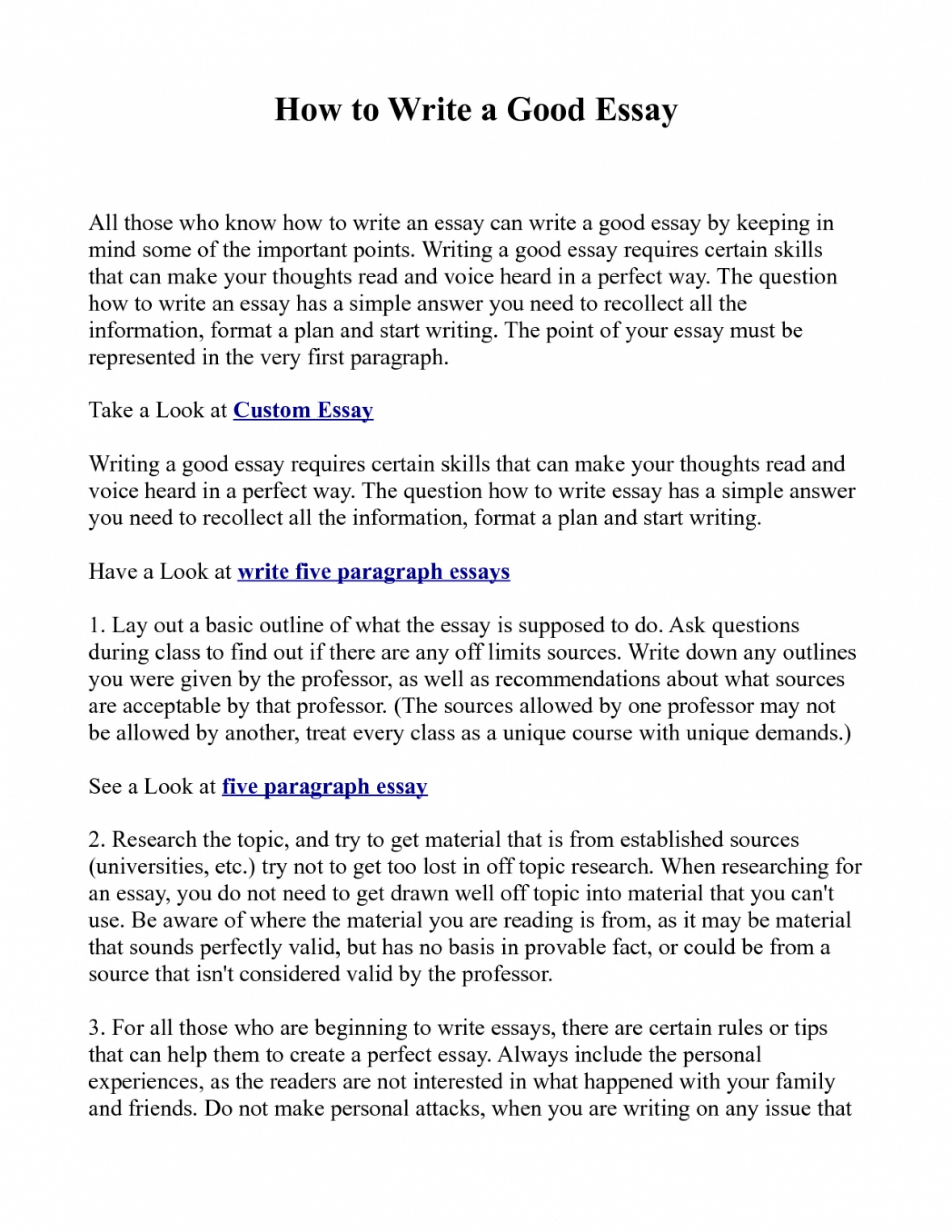006 Essay Example How To Write Great Essays An Excellent The Perfect Easy Way Ex1id Best Awesome A In Hour Good Personal For College Application 1920