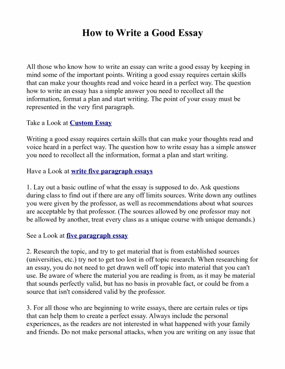 006 Essay Example How To Write Great Essays An Excellent The Perfect Easy Way Ex1id Best Awesome A Good For Scholarship Application Personal College Conclusion 960
