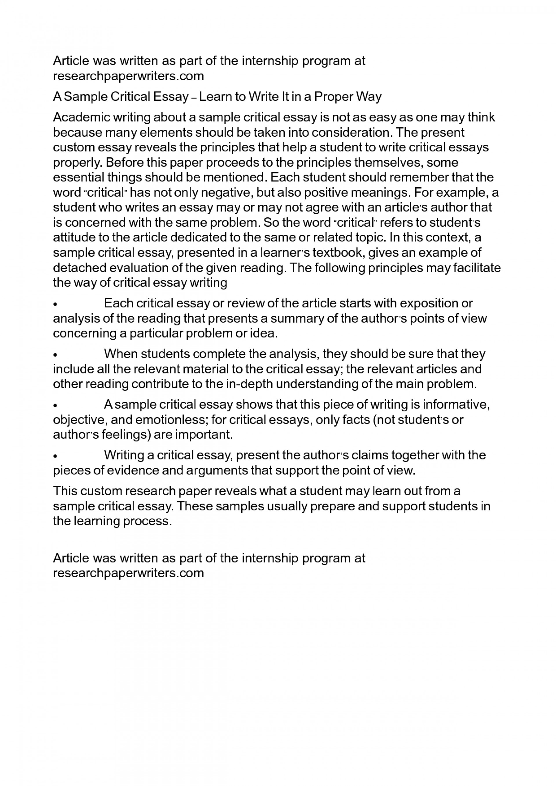 006 Essay Example How To Write Proper Frightening A Good Argumentative Outline Narrative For College 1920