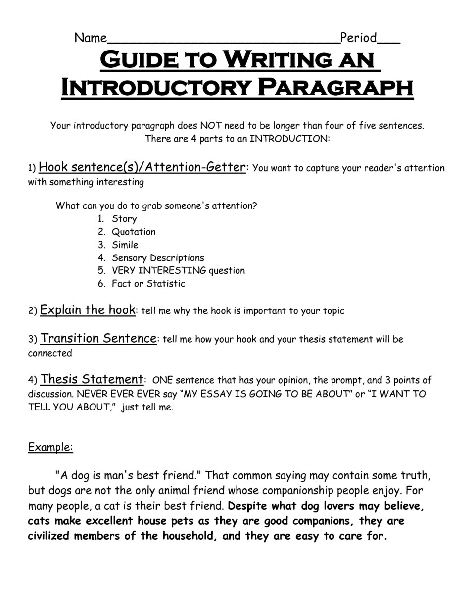 002 How Do You Write An Introduction Paragraph In Essay