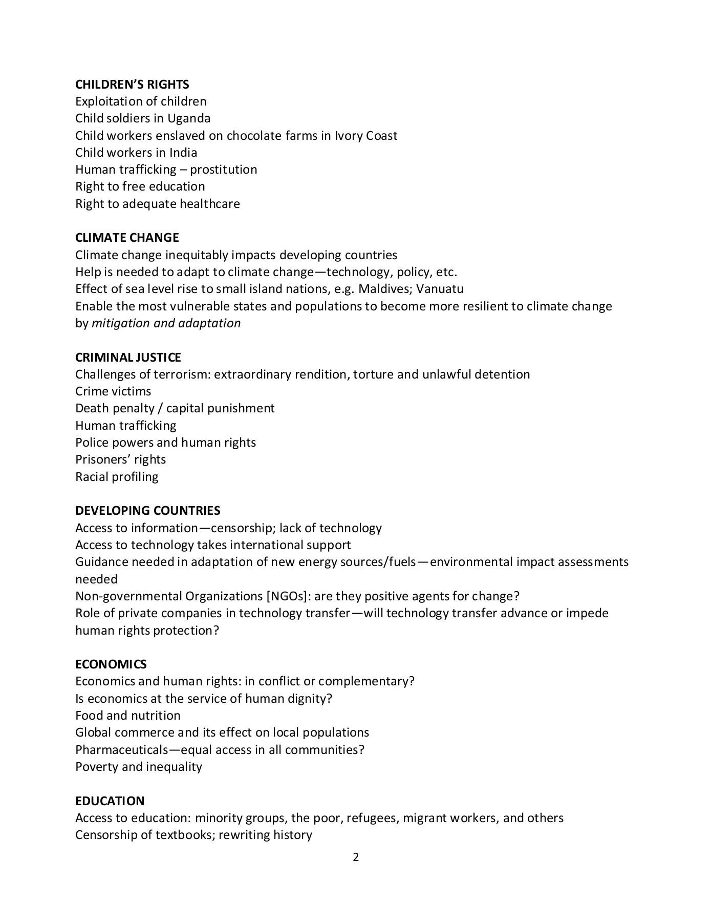 Human services term paper