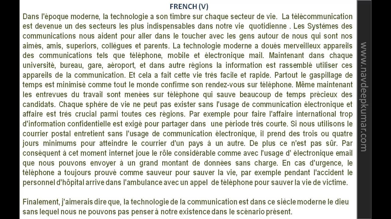 006 Essay Example In French Writing Essays Service Frightening Small On My Family Language About Myself Full