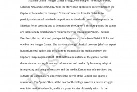006 Essay Example Largepreview The Hunger Games Book Imposing Review 320