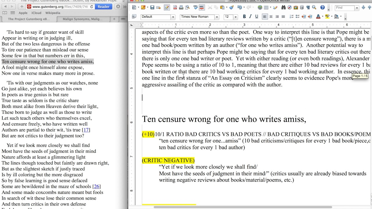 006 Essay Example Maxresdefault Pope On Criticism With Line Outstanding Numbers Full