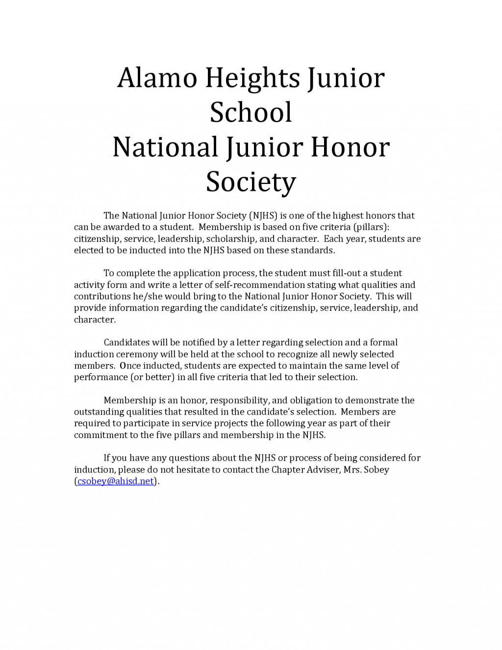 006 Essay Example National Junior Honor Society Unusual Samples Large