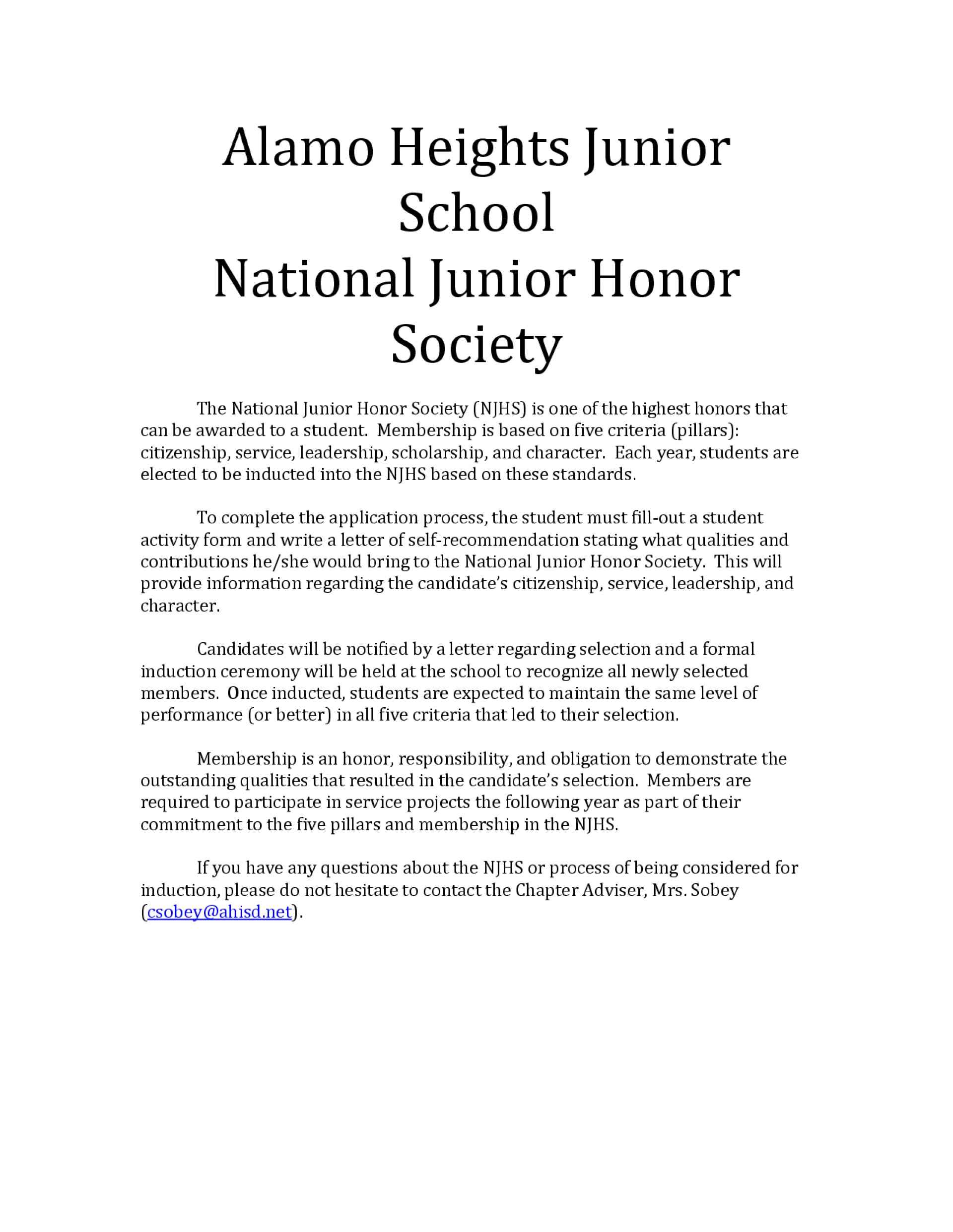 006 Essay Example National Junior Honor Society Unusual Samples 1920