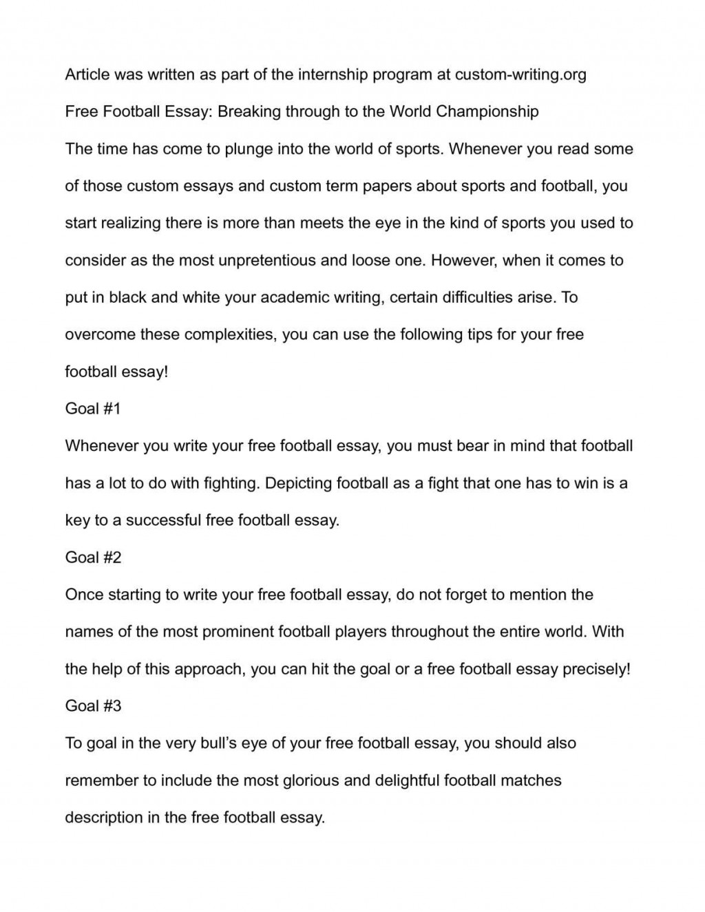 006 Essay Example On Football Top Match For Class 7 Player Large