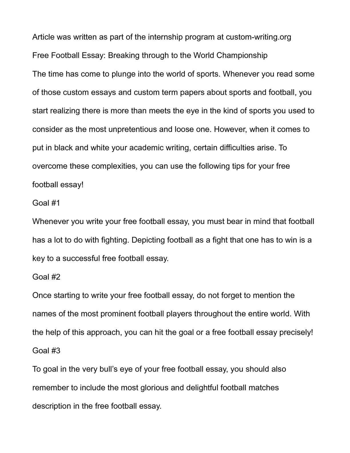 006 Essay Example On Football Top Match For Class 7 Player Full