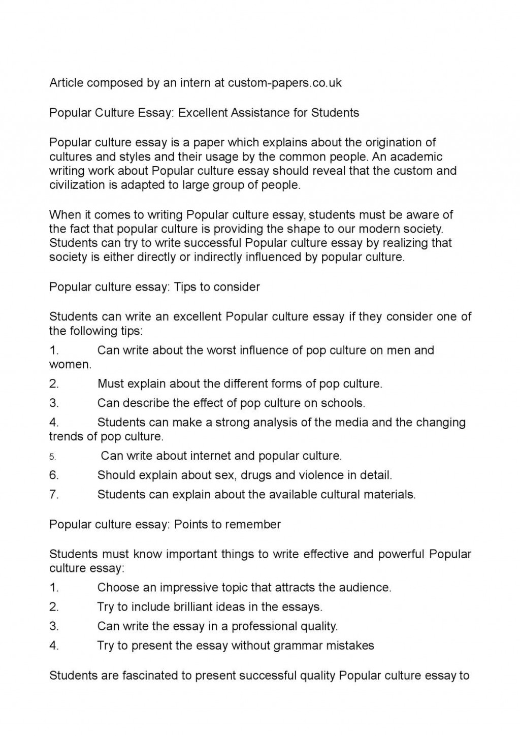 006 Essay Example P1 Pop Top Culture Controversial Topics Religion And Popular 2018 Large
