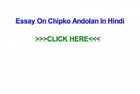 006 Essay Example Page 1 Chipko Imposing Movement In Kannada Language Hindi Andolan