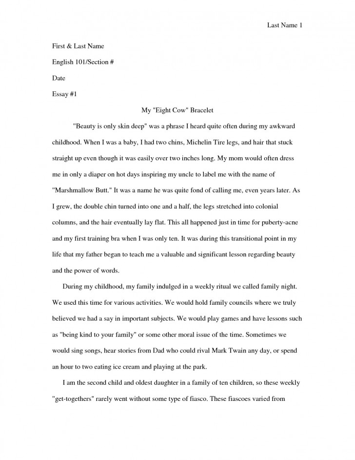 006 Essay Example Personal Narrative Examples For Colleges Autobiographical High Frightening School 728
