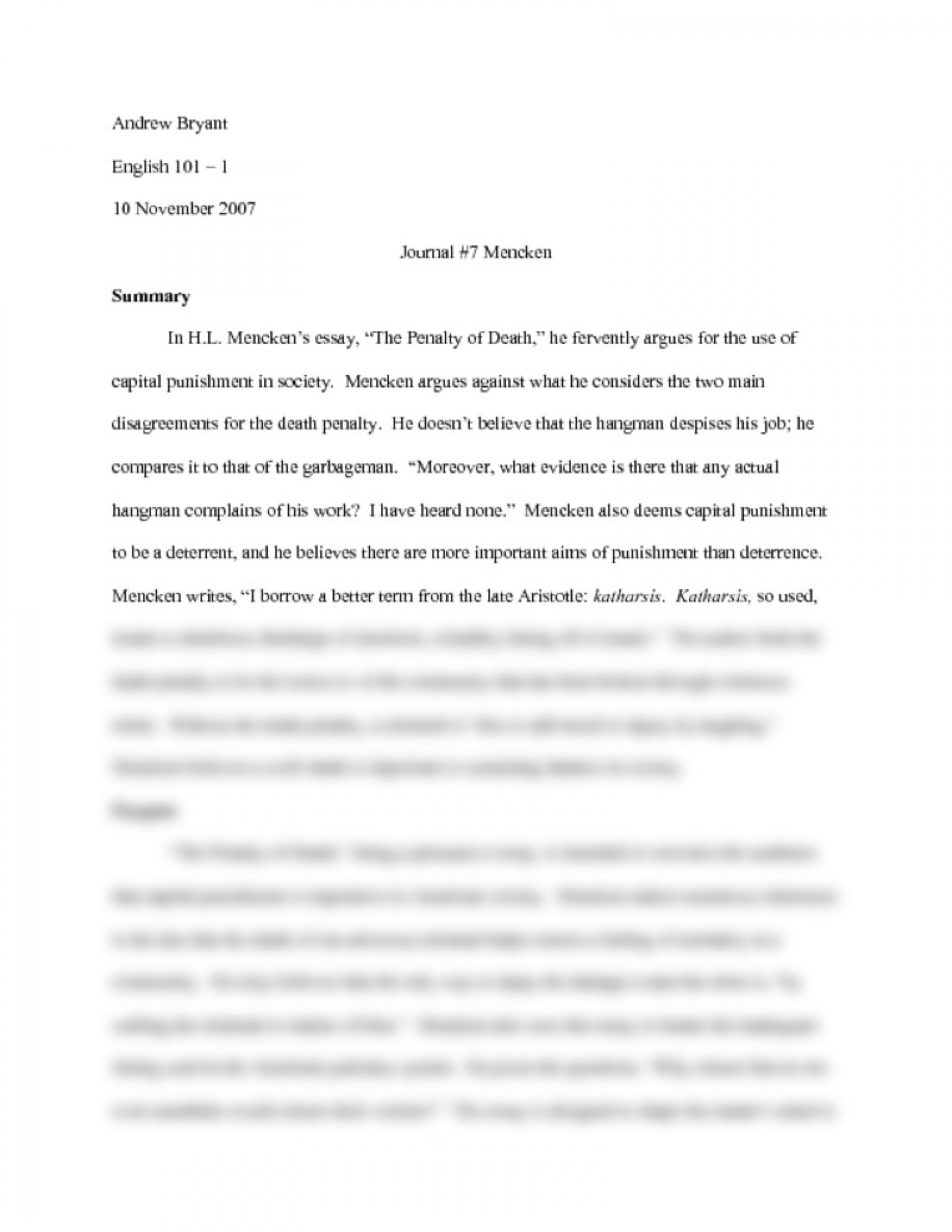 006 Essay Example Preview0 Against Death Unique Penalty Anti Tagalog Conclusion Examples 1920