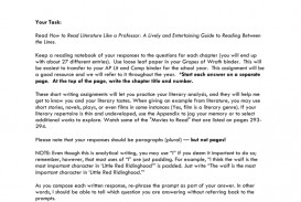 006 Essay Example Professor How To Read Lit Like 008059138 1 Amazing Teaching College Writing On My In French