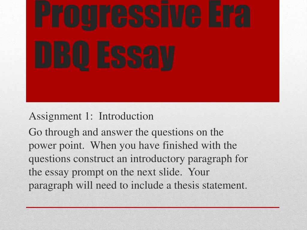006 Essay Example Progressive Era Dbq Surprising Apush Questions Titles Full