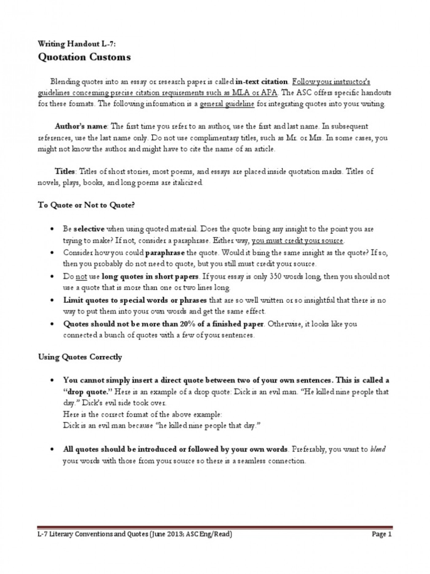 How To Quote A Dialogue In An Essay | The Ultimate Guide