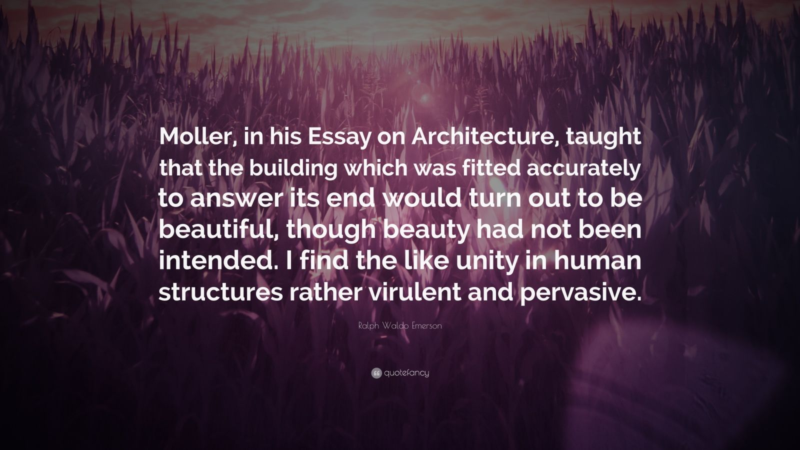 006 Essay Example Ralph Waldo Emerson Quote Moller In His On Architecture Unusual Essays Nature And Selected By Pdf Download First Second Series Full