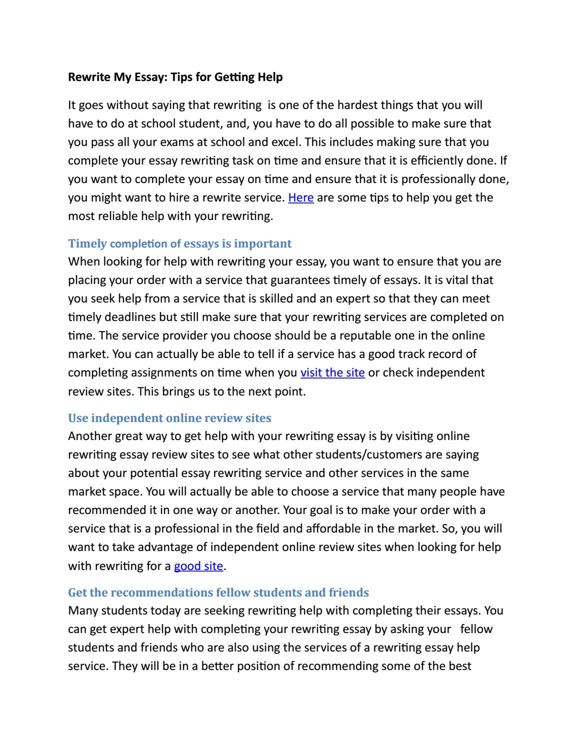 006 Essay Example Reword My Page 1 Unique Free Full