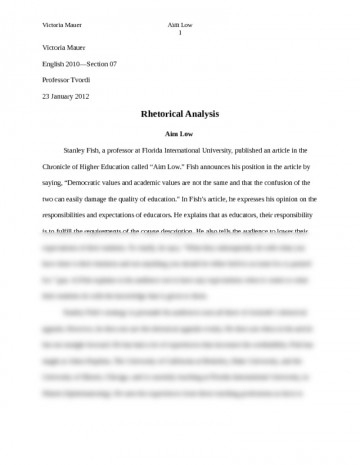 006 Essay Example Rhetorical Analysis For College How To Write Outline Pre On An Image Advertisement
