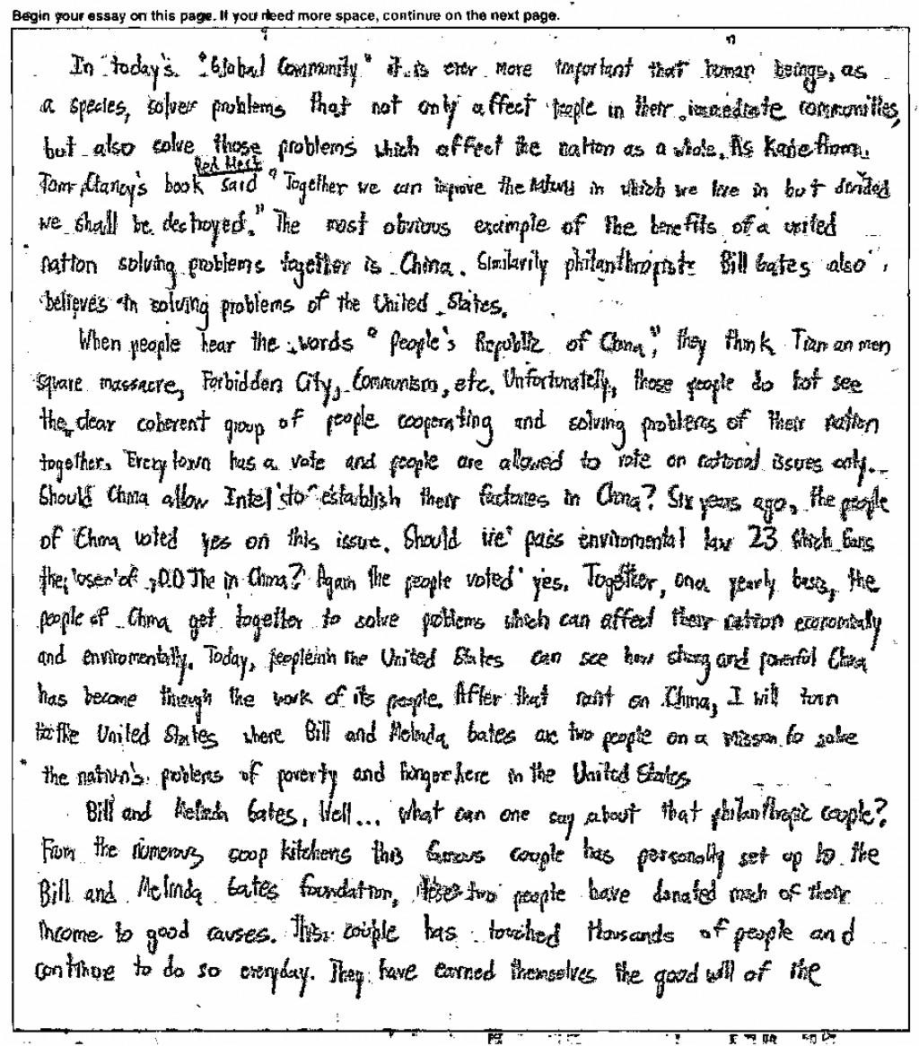 006 Essay Example Sample Act Essays Wonderful New Writing Large