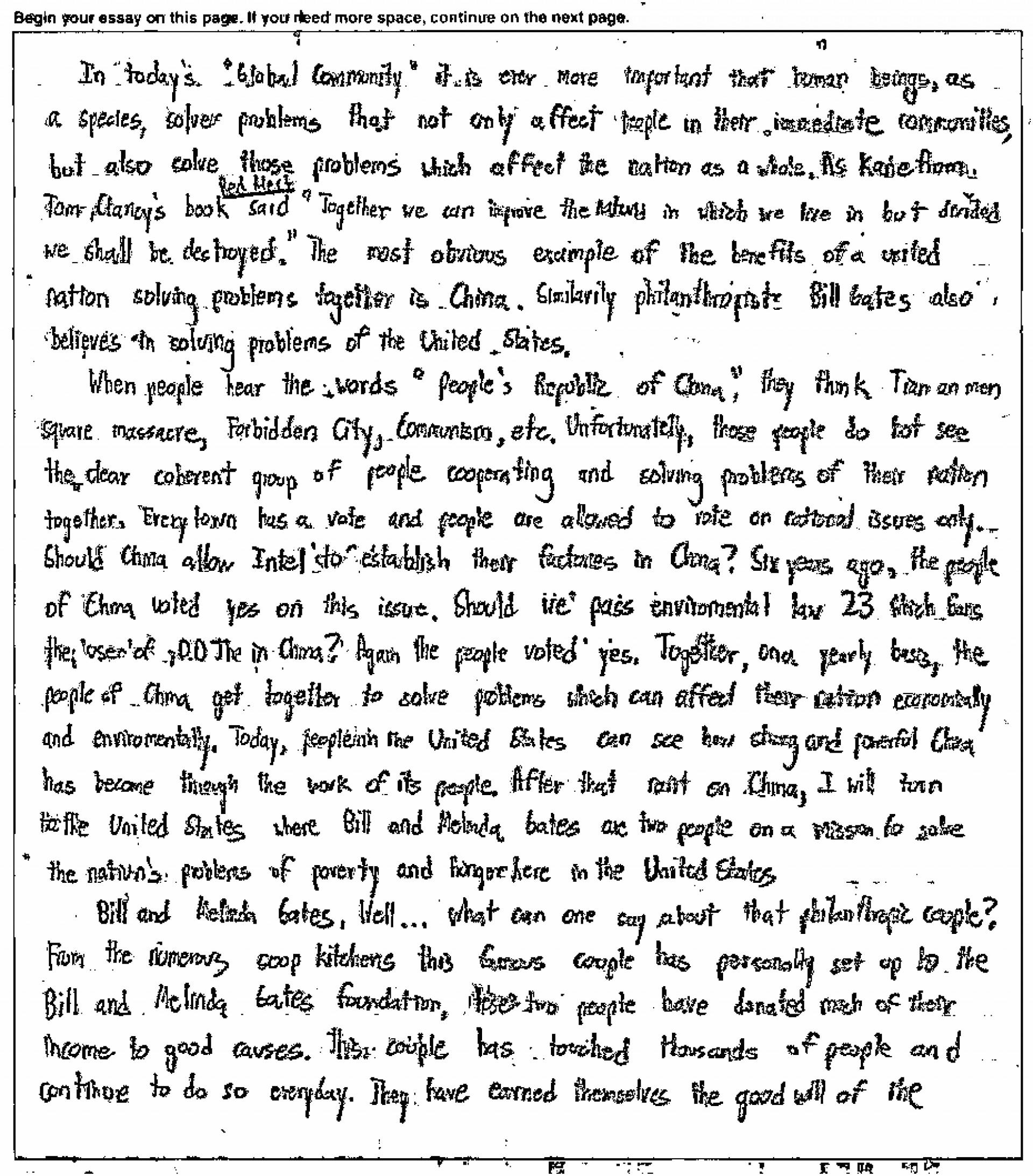 006 Essay Example Sample Act Essays Wonderful New 1920