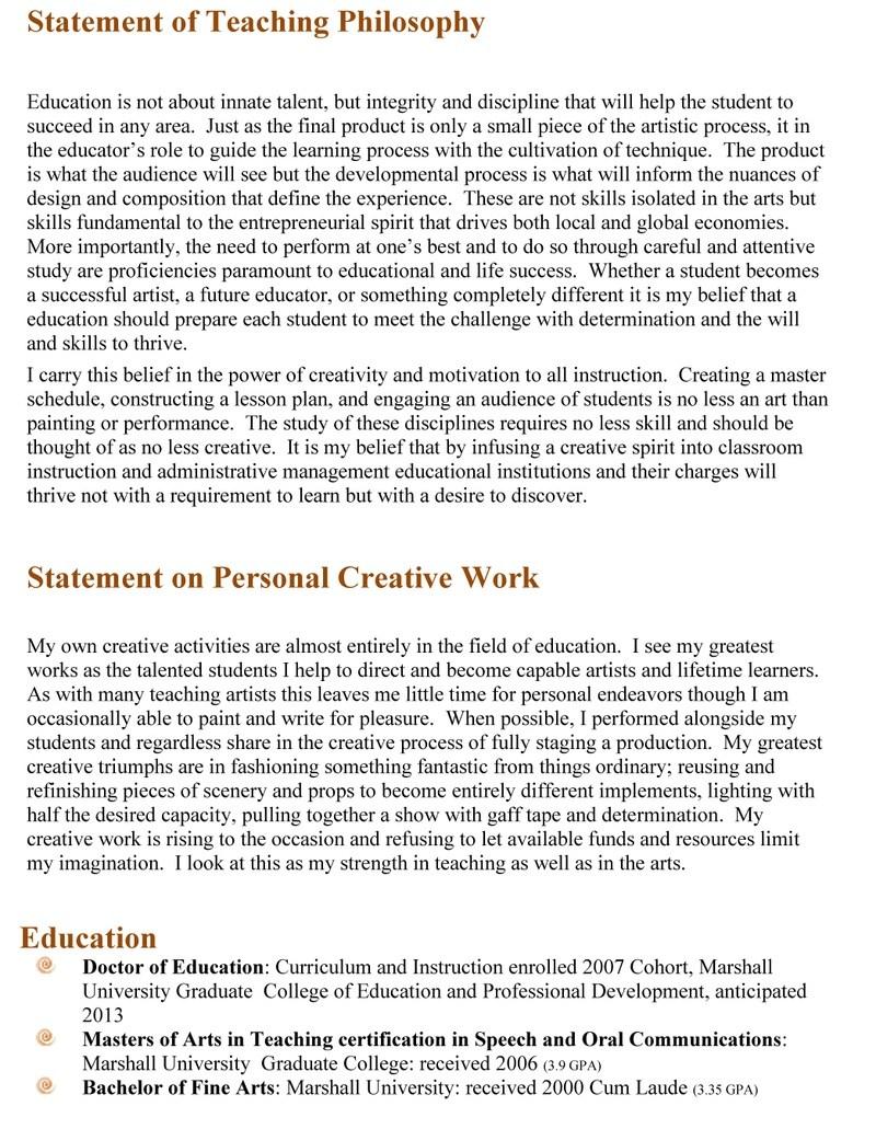 006 Essay Example Teaching Philosophy Statement Examples Rsqstft0 Of Fantastic Nursing College Full