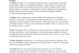 006 Essay Example The Great Gatsby Topics 008001974 1 Exceptional Literary Question Chapter