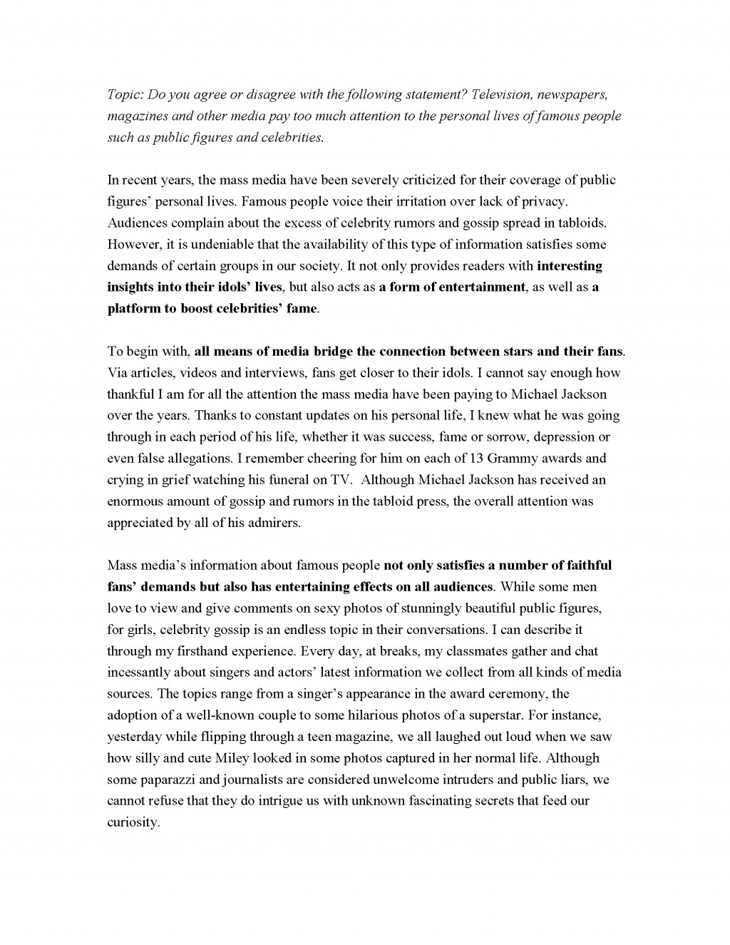 006 Essay Example Toefl Topics Essays On Privacy Agree Disagree Writing Pdf The Mass Medias Attent Ibt With Answers Examples Dreaded 2017 185 Ets Large