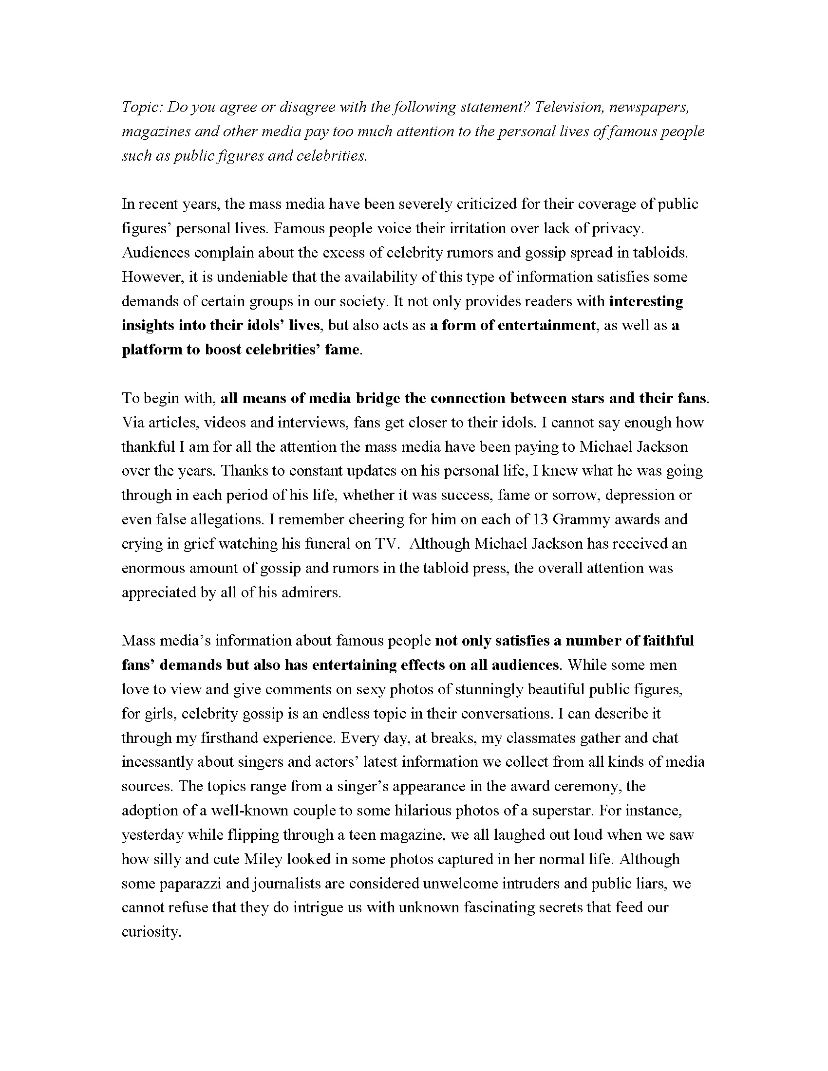 006 Essay Example Toefl Topics Essays On Privacy Agree Disagree Writing Pdf The Mass Medias Attent Ibt With Answers Examples Dreaded 2017 185 Ets Full
