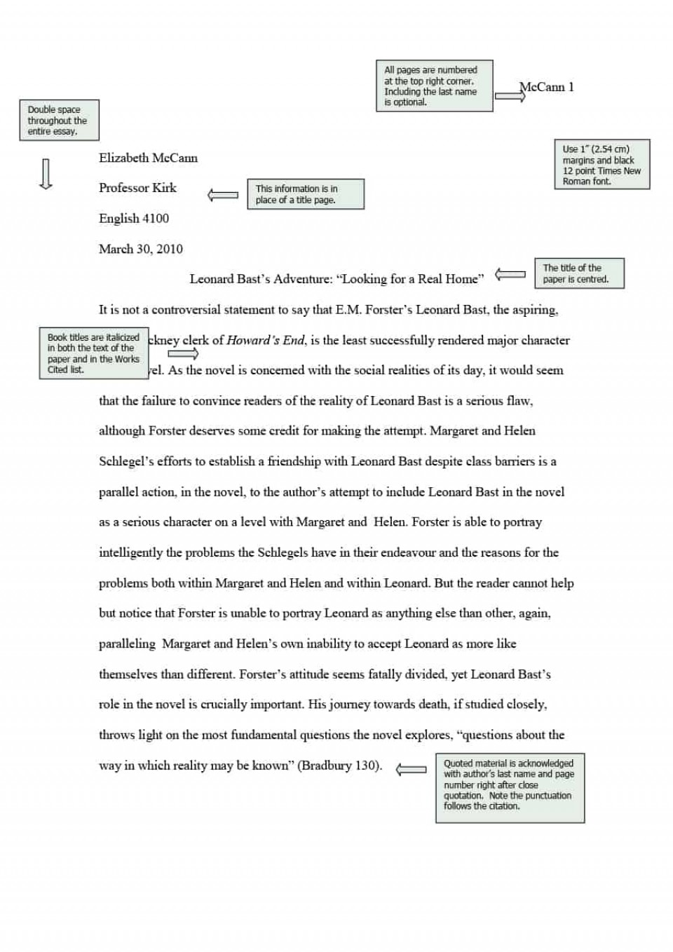 006 Essay Example What Is Mla Format For Essays Template Unique A Narrative With Cover Page 960