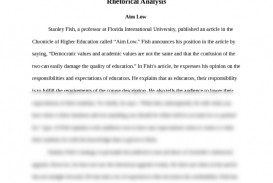 006 Essay Example What Is Rhetorical Frightening A Devices The Purpose Of Analysis