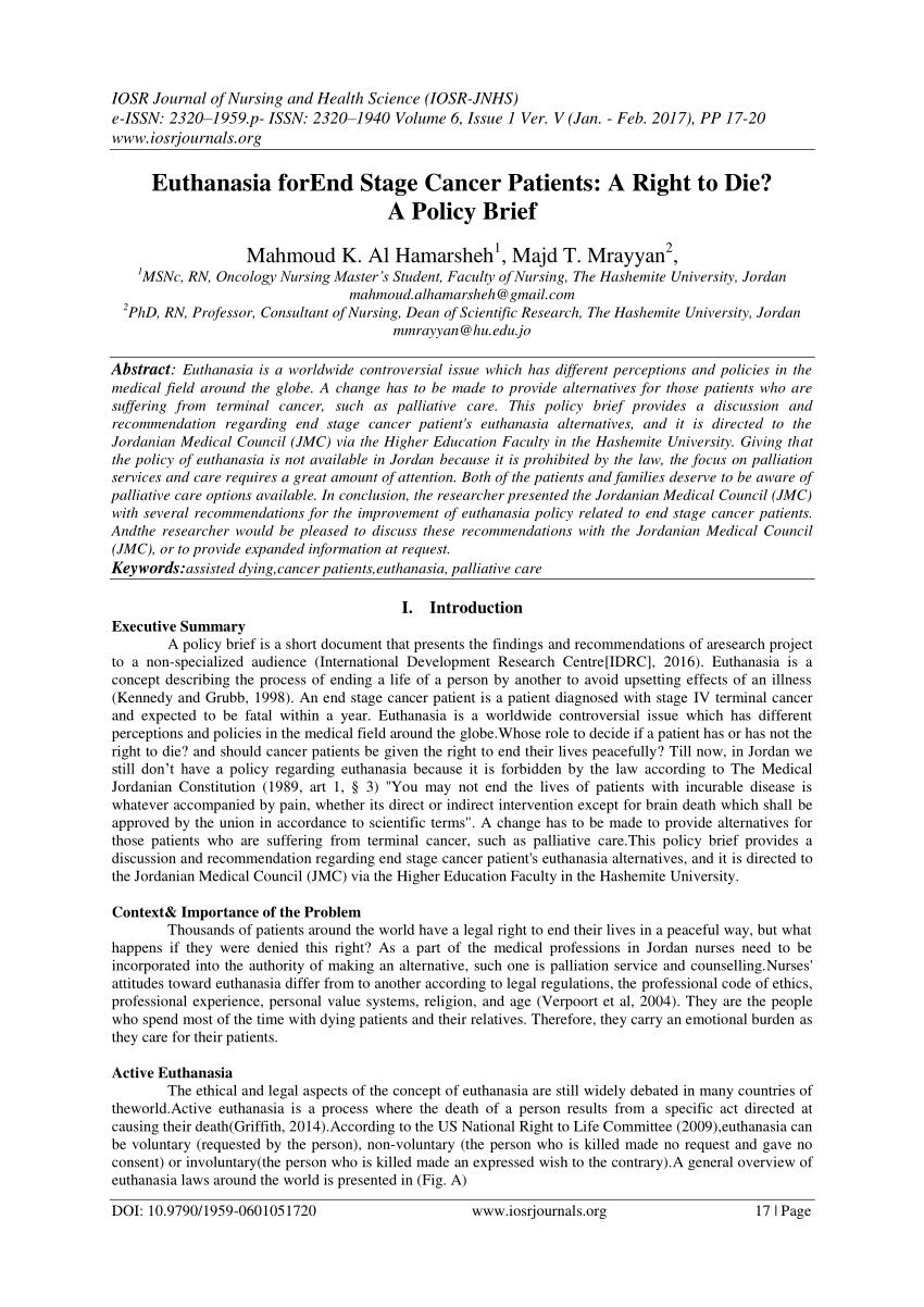 euthanasia essay pdf