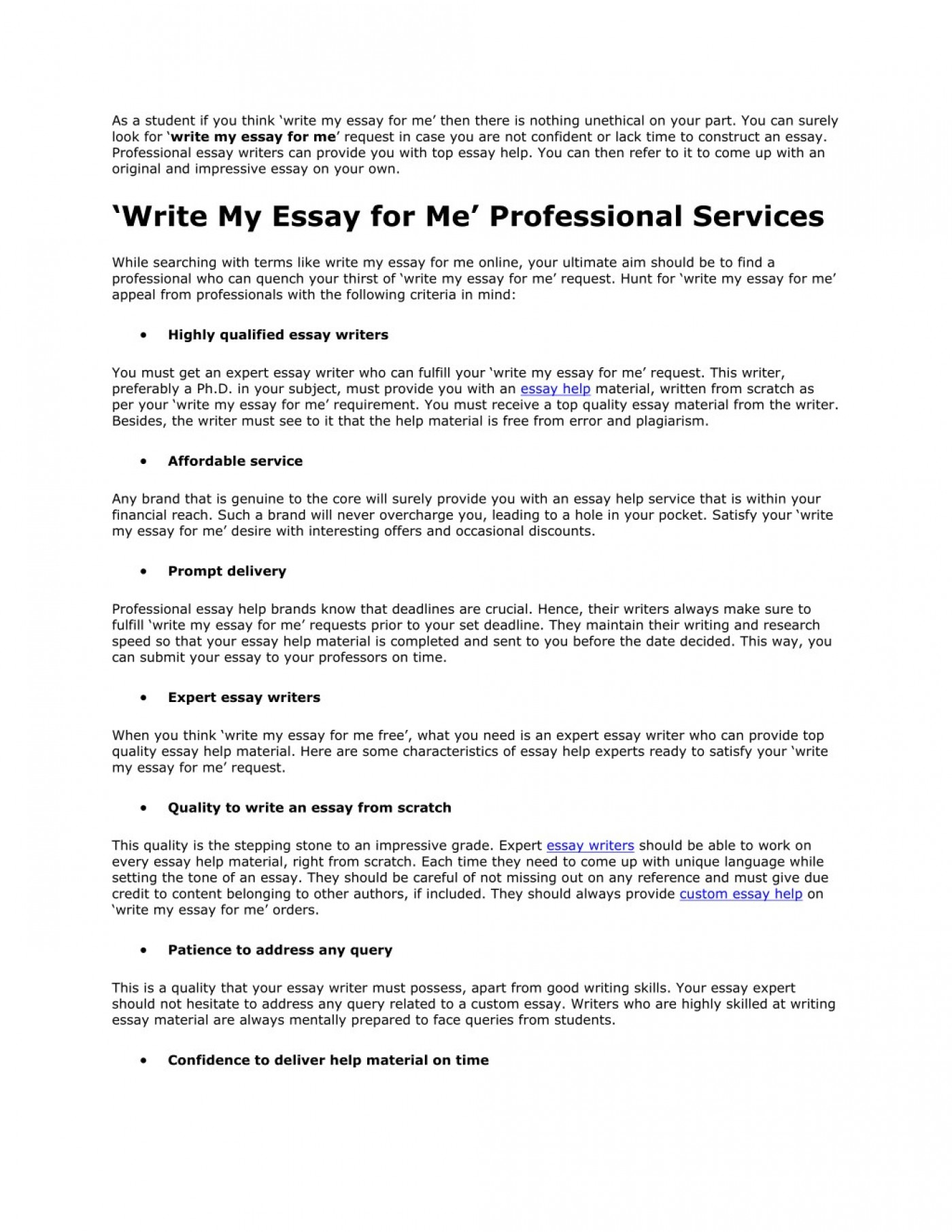 006 Essay Example Write For Me As Student If You Think My Amazing Generator Free Online 1400