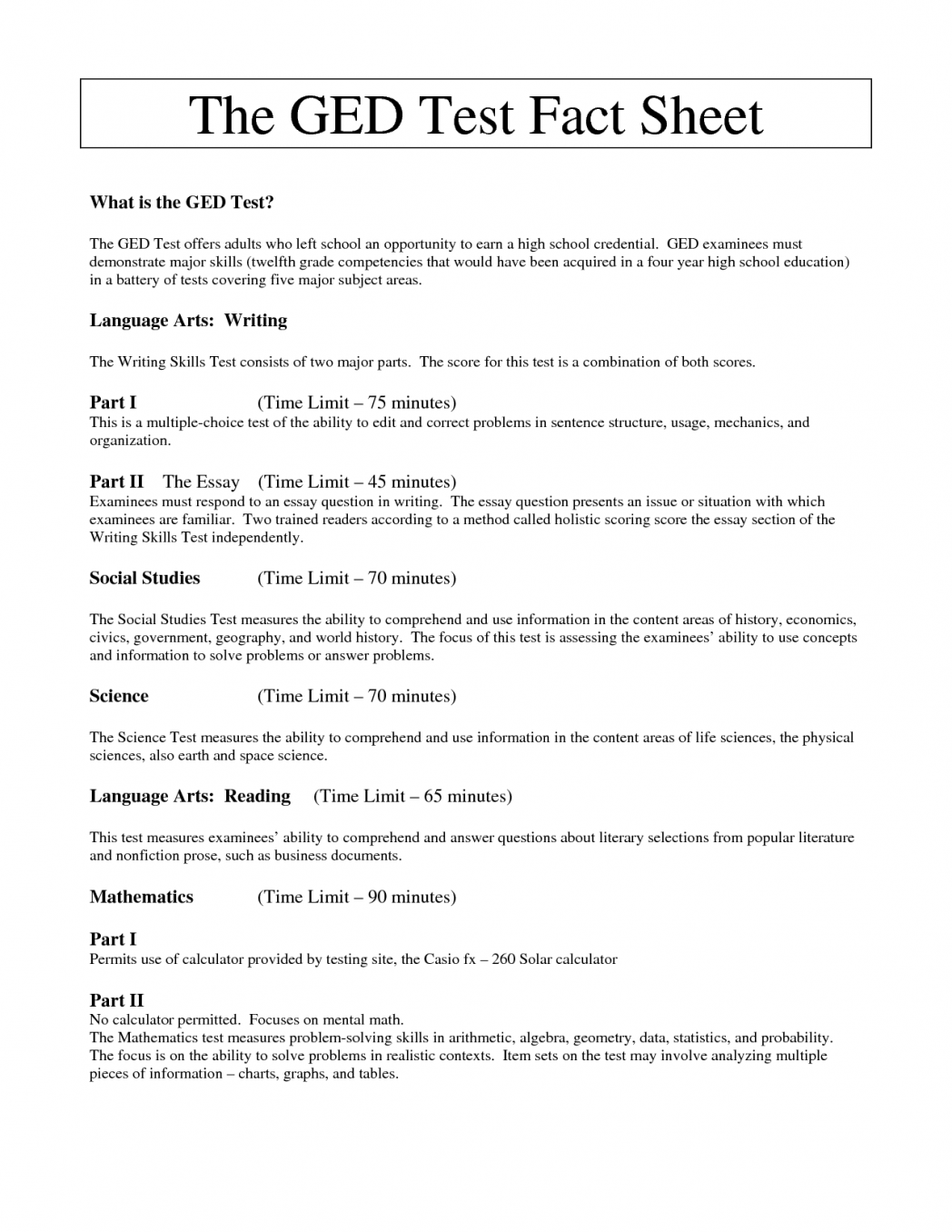 ged essay examples 2018