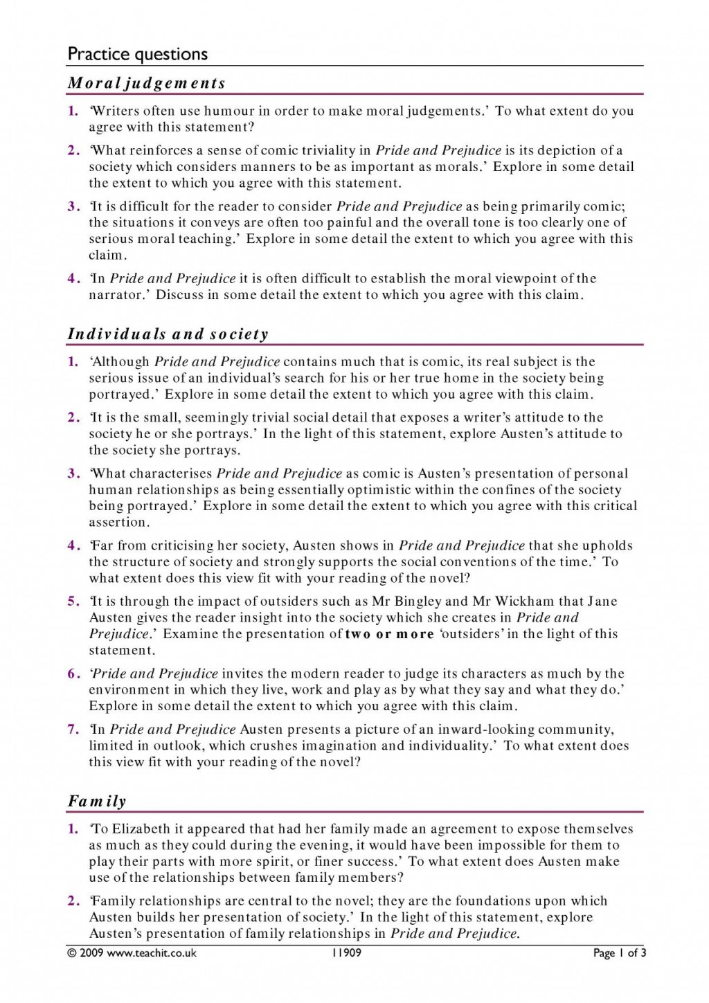 006 Essay Pride And Prejudice By Jane Austen Ks3 Write An On Goes Before Fall X My Nepal Country How To Outstanding Questions Answers Aqa Good For Large