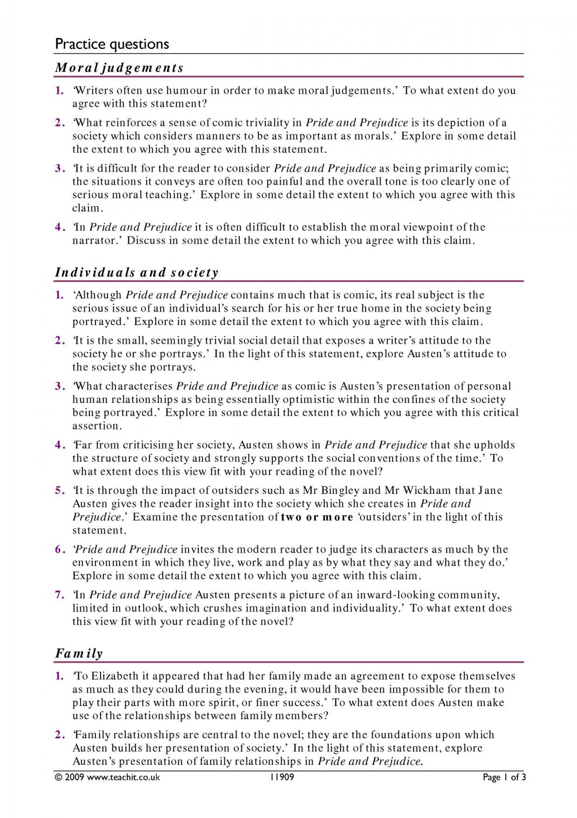 006 Essay Pride And Prejudice By Jane Austen Ks3 Write An On Goes Before Fall X My Nepal Country How To Outstanding Questions Answers Aqa Good For 1920