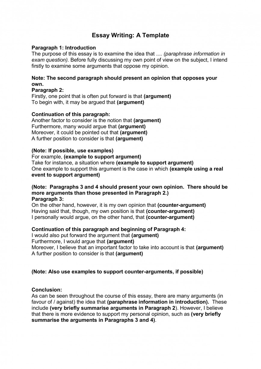 006 Essay Writing Template For Part How To Write An Opinion Unbelievable 3rd Grade College 868