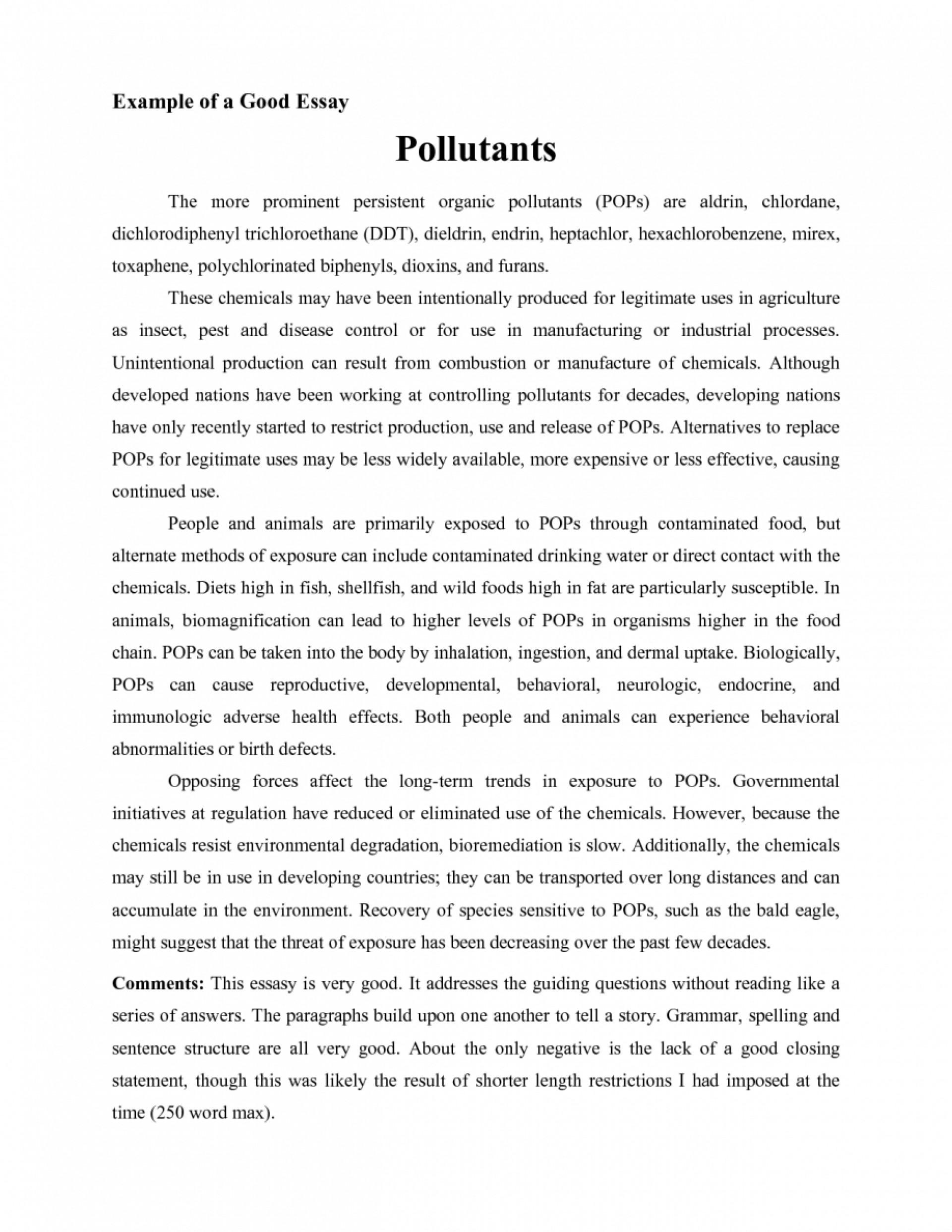 006 Essays Examples Essay Example Good Of College Jianbochencom L Striking Tagalog Argumentative Pdf Samples 1920